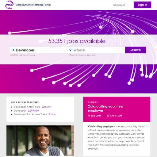 Employment Platform Portal, Job portal / job search front end; job matching; PES front-end application